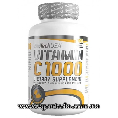 BioTech USA Vitamin C 1000 With Rose Hips
