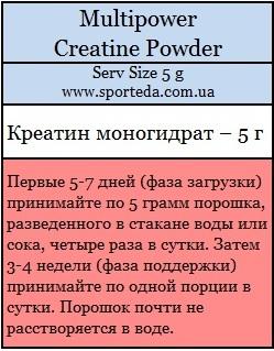 Креатин моногидрат Creatine Powder