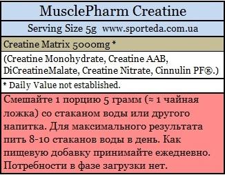 Креатин MusclePharm