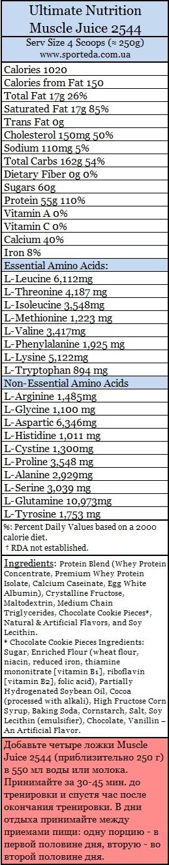 Гейнер Muscle Juice 2544