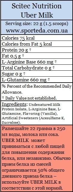 Комплексный протеин Uber Milk