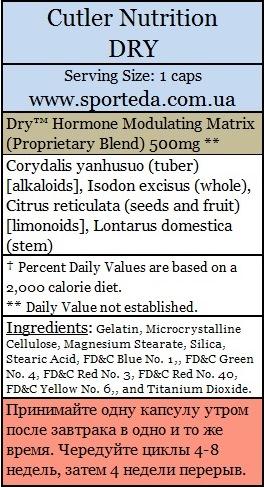 Бустер тестостерона Dry