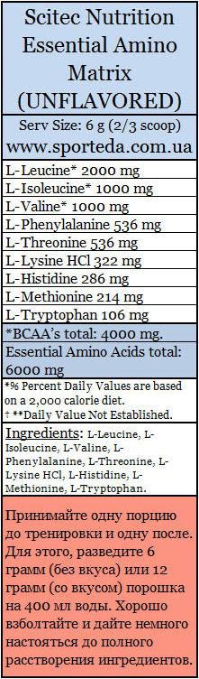 Незаменимые аминокислоты Скайтек Нутришн