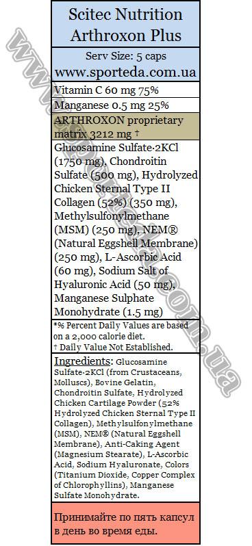 Витамины для суставов Скайтек Нутришн