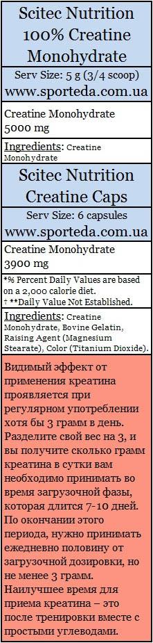 Купить креатин моногидрат Скайтек Нутришн